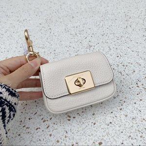 NWT Authentic Coach Leather Mini Bag Key Fob Chain